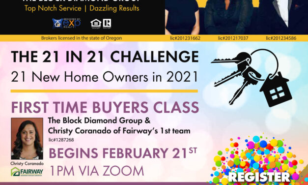 First Time Buyers Class – March 21st