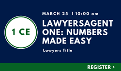 Lawyers Agent One: Numbers Made Easy