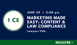 Marketing Made Easy: Content & Law Compliance