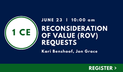 Reconsideration of Value (ROV) Requests